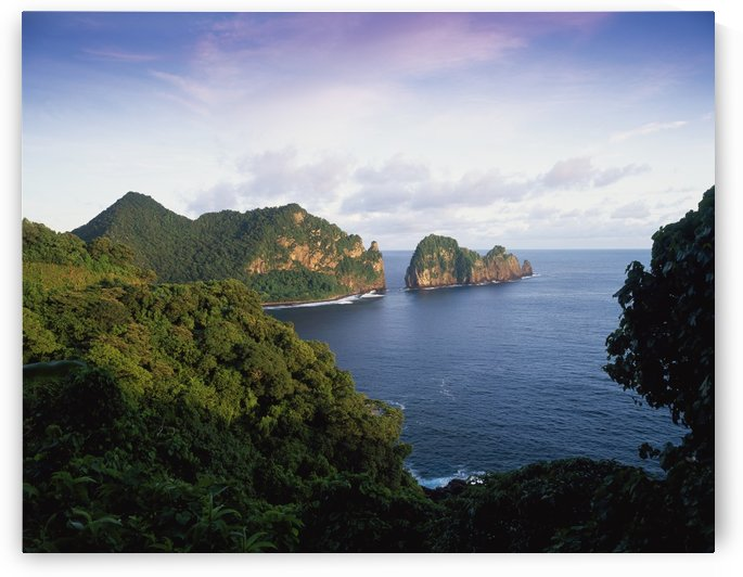 View across the Southeastern coastline of American Samoa; American Samoa by PacificStock