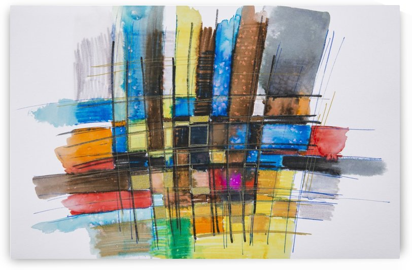 Painting of a colourful grid by PacificStock