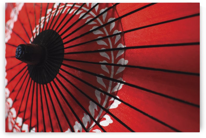 Japanese red umbrella; Kyoto, Japan by PacificStock
