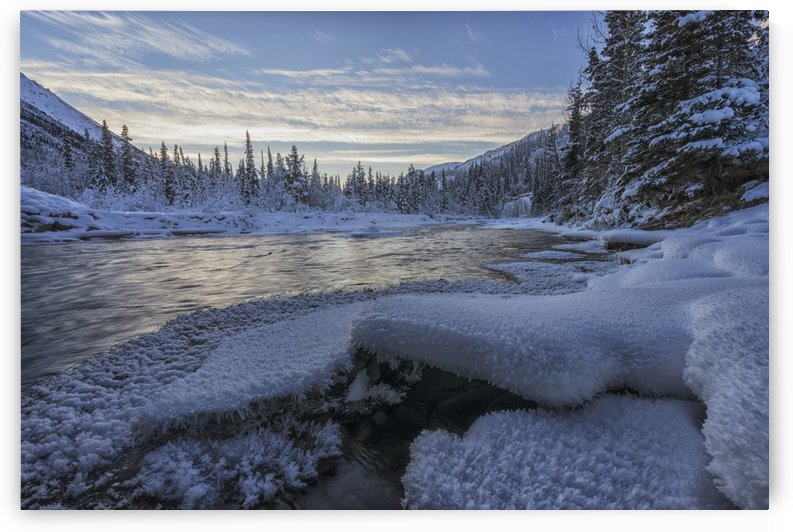 Sunset over the Wheaton River, near Whitehorse; Yukon, Canada by PacificStock