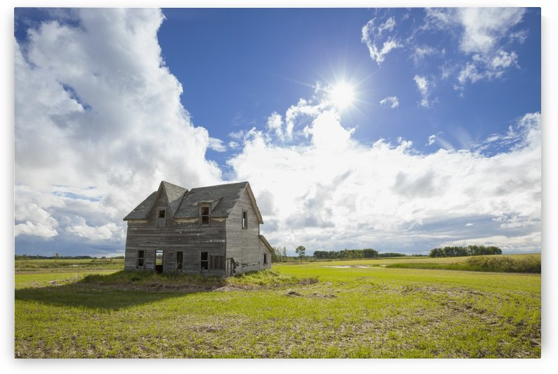 Dilapidated house on the prairies; Winnipeg, Manitoba, Canada by PacificStock