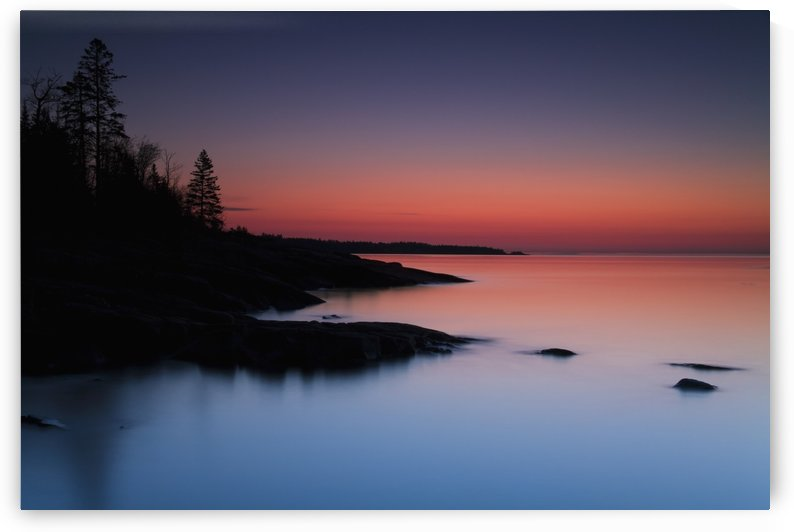 Dawn over the North Shore of Lake Superior, near Duluth; Minnesota, United States of America by PacificStock