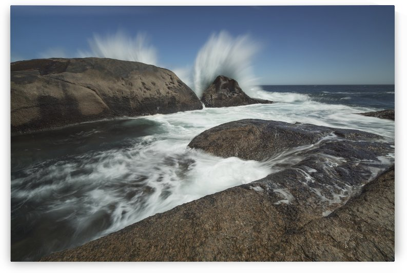Large waves splash over the shoreline along the South African coastline near Hondeklip Bay; South Africa by PacificStock