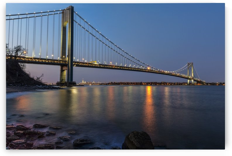 Verazzano-Narrows Bridge at sunset, Fort Wadsworth; Staten Island, New York, United States of America by PacificStock