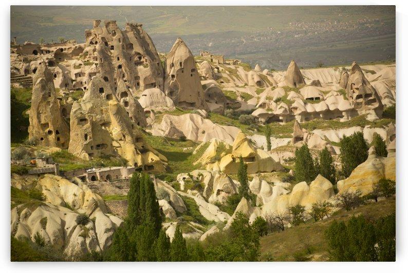 Area around Rock Castle; Uchisar, Cappadocia, Turkey by PacificStock
