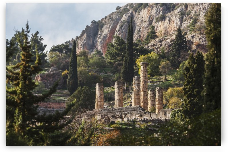 Temple of Apollo; Delphi, Greece by PacificStock