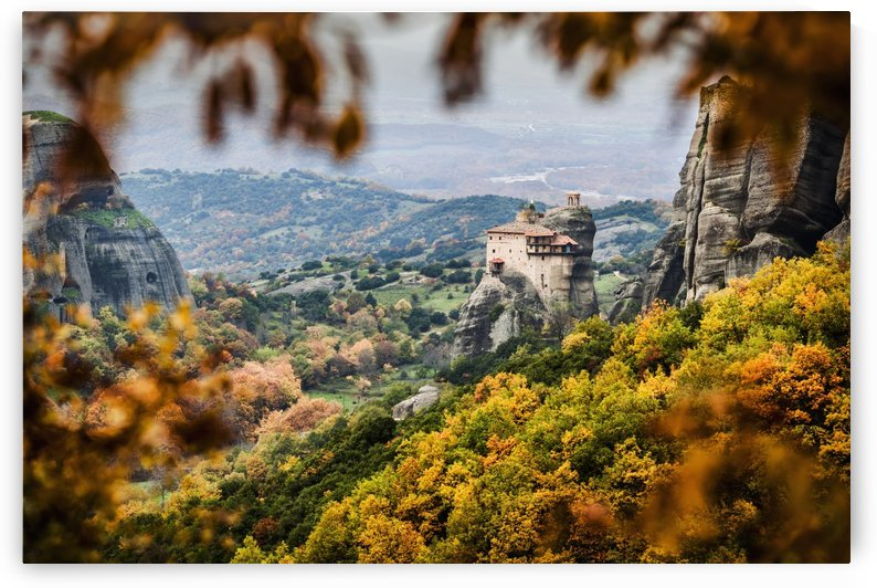 Holy Monastery of St. Nicholas Anapausas; Meteora, Greece by PacificStock