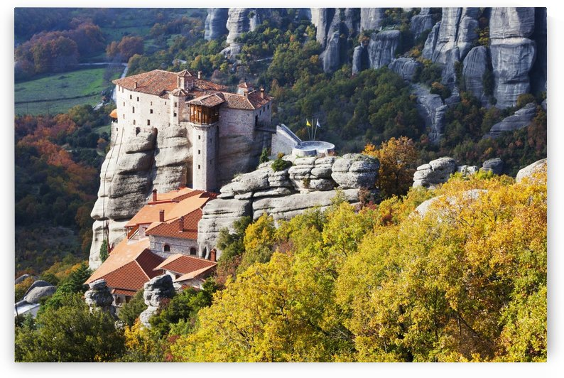 Monastery on a cliff; Meteora, Greece by PacificStock