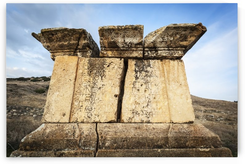 Ruins of graves, Hierapolis; Pamukkale, Turkey by PacificStock