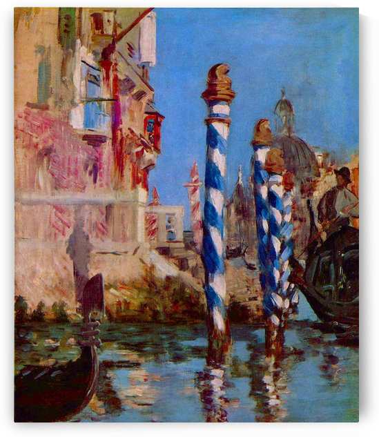 Grand Canal in Venice by Edouard Manet by Edouard Manet