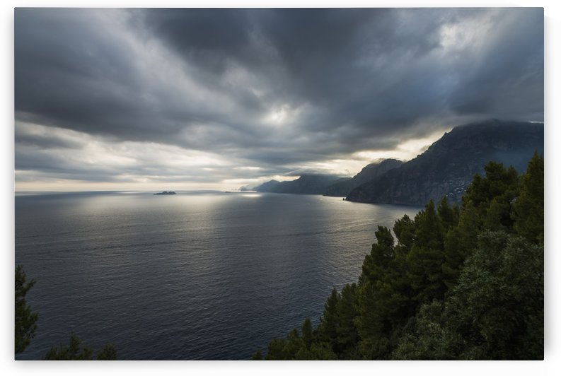Storm clouds over the mediterranean along the Amalfi coast; Praiano, Campania, Italy by PacificStock