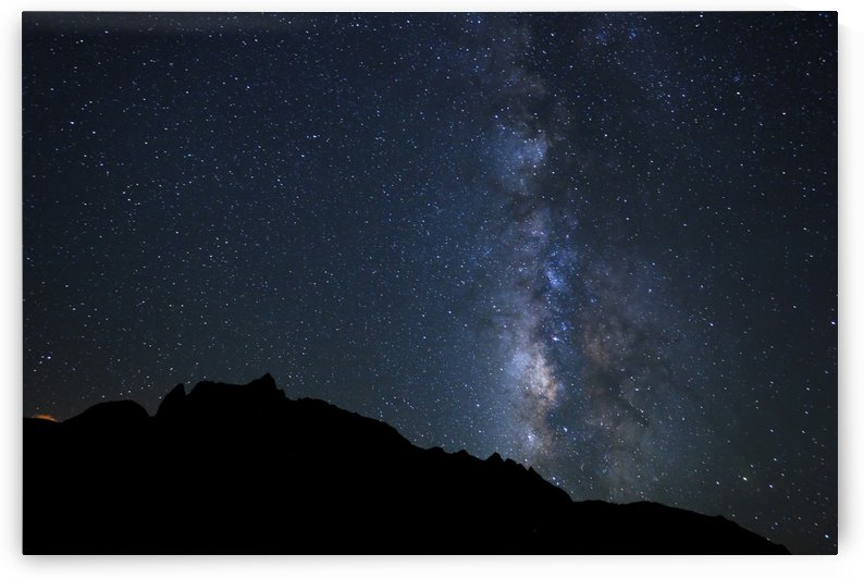 Night Sky, Bright Stars and Milky Way Galaxy by PacificStock