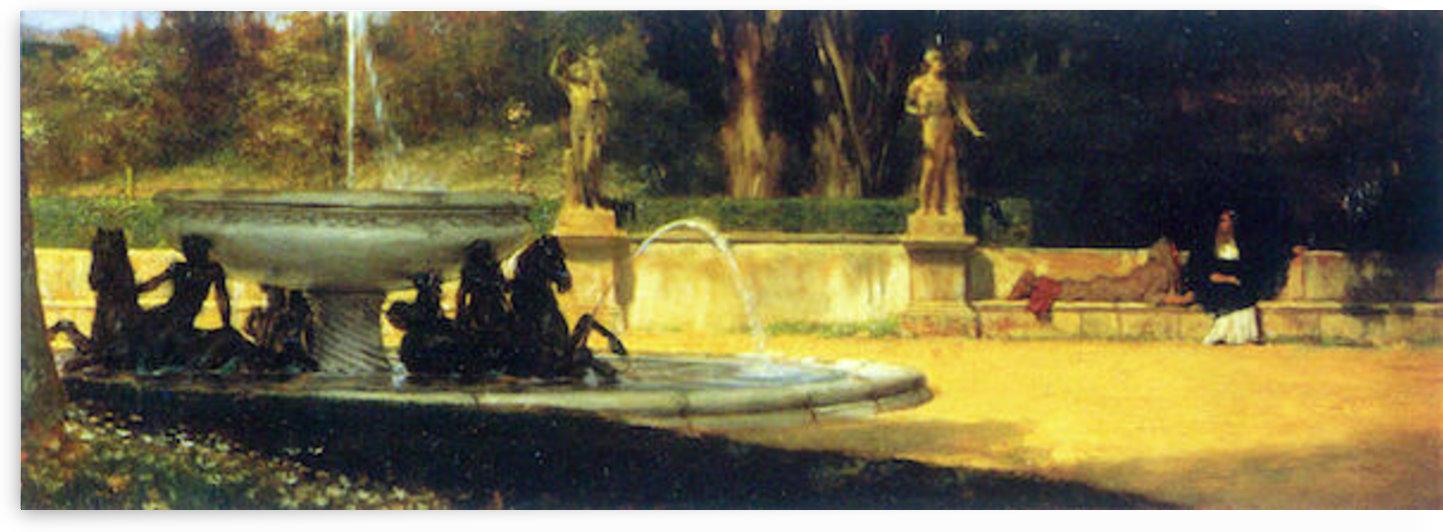 Roman Garden by Alma-Tadema by Alma-Tadema