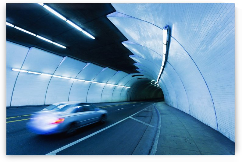 Urban Tunnel, Car moving with Motion Blur by PacificStock