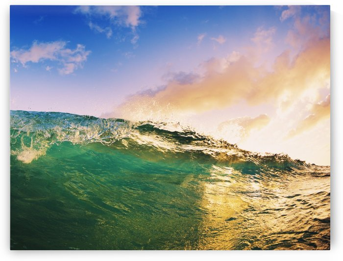 Beautiful Sunset Wave by PacificStock