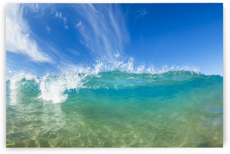 Beautiful Sunny Blue Wave by PacificStock