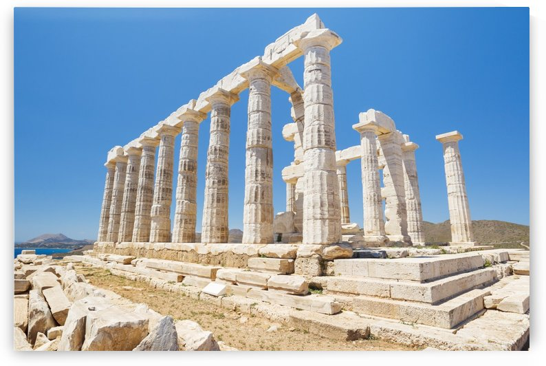 Greek Temple Ruins, Temple of Poseidon near Athens by PacificStock