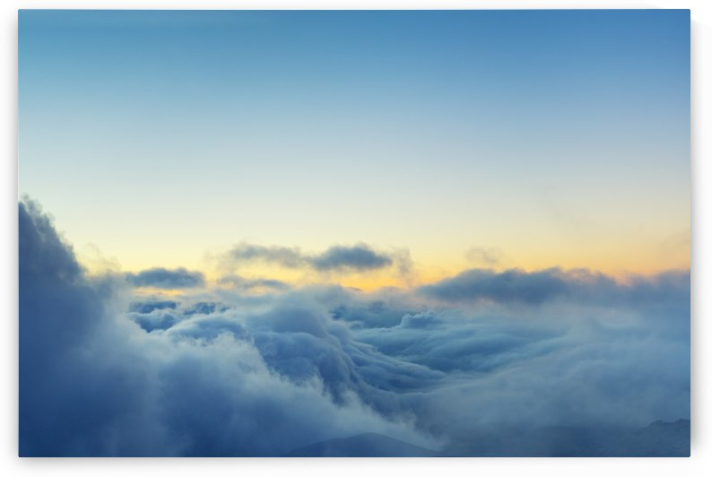 View Above the Clouds, Beautiful Sunset Cloudscape by PacificStock