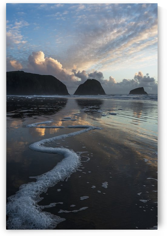 Dusk approaches on Crescent Beach; Cannon Beach, Oregon, United States of America by PacificStock