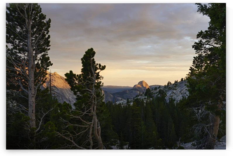 Sunset view from Olmsted Point towards Half dome, Yosemite National Park; California, United States of America by PacificStock
