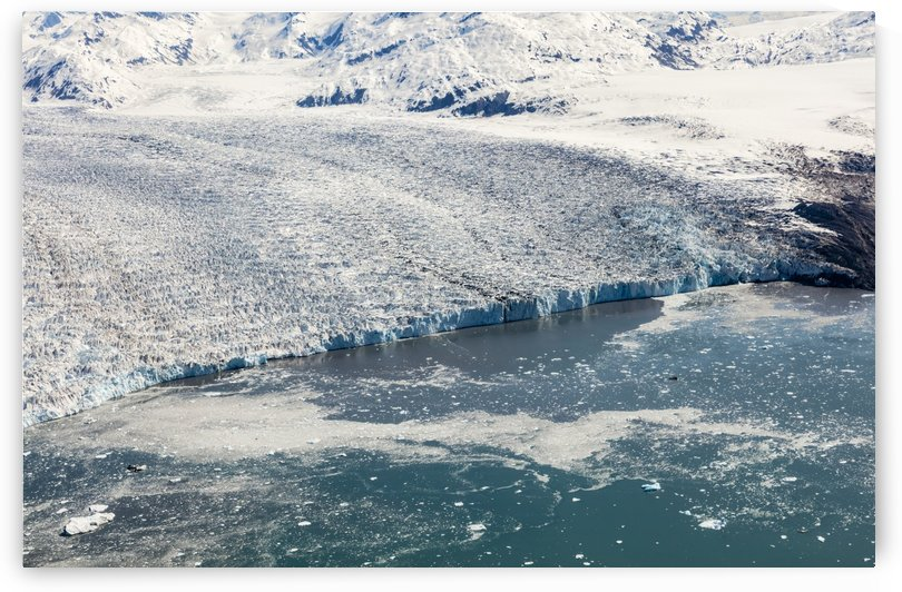 Aerial of the east branch of Columbia Glacier, Prince William Sound, Southcentral Alaska, spring by PacificStock