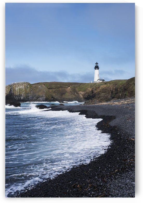 Surf breaks on the beach at Yaquina Head; Newport, Oregon, United States of America by PacificStock