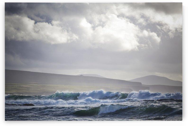Stormy seas on Ireland's Wild Atlantic Way overlooking the Ceide Fields near Ballycastle; County Mayo, Ireland by PacificStock