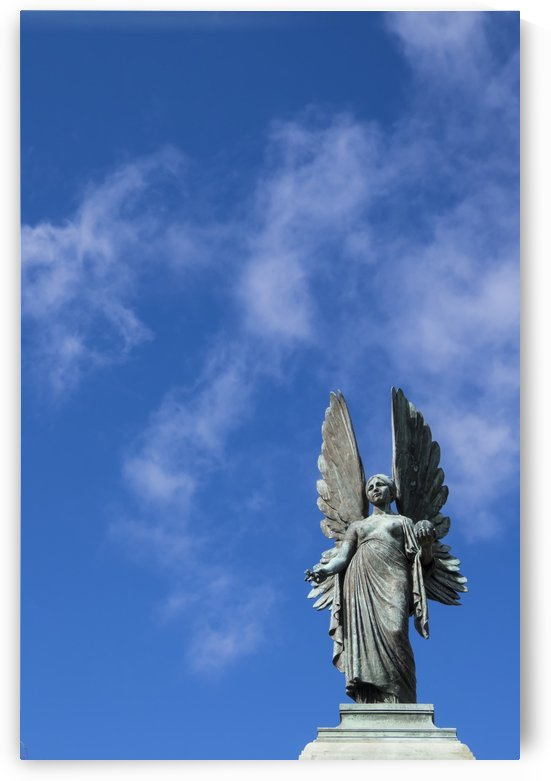 Angel overlooking Parade Gardens; Bath, Somerset, England by PacificStock
