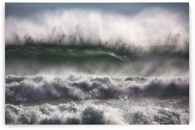 Large waves from the South Atlantic Ocean pound the shore of Cape Good Hope; South Africa by PacificStock