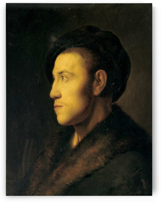 Portrait of a young man in profile by Jan Lievens
