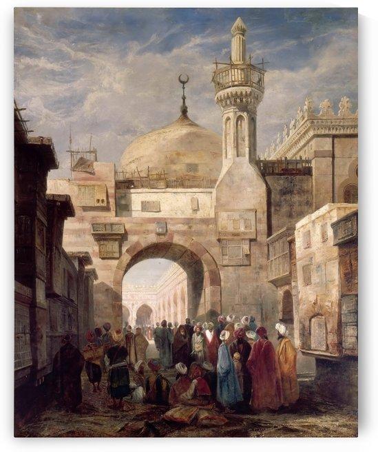 Mosque of Al Azhar in Cairo by Adrien Dauzats