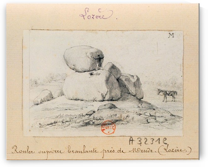 Rouler ou pierre branlante pres de Mende by Adrien Dauzats