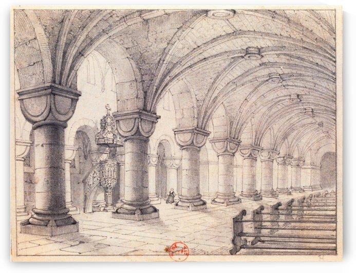 Eglise Saint-Georges by Adrien Dauzats