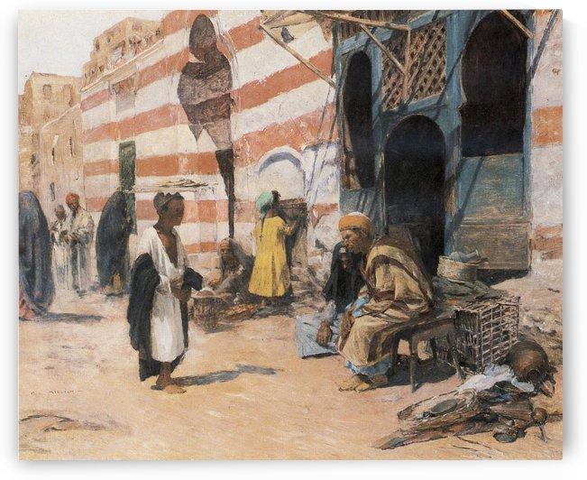 Orientalische Marktszene by Leopold Alphons Mielich