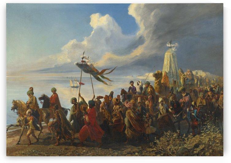 The Journey to Jerusalem by Leopold Alphons Mielich