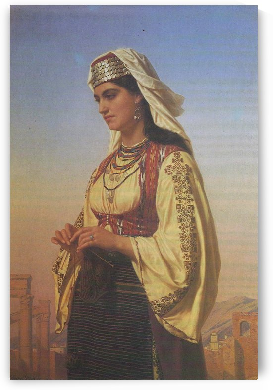 A Greek Beauty, 1871 by Emile Lecomte-Vernet