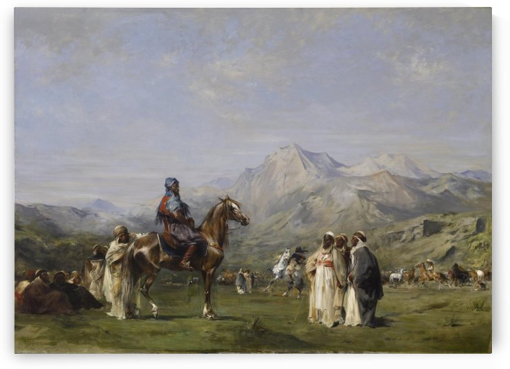 An encampment in the Atlas Mountains by Eugene Fromentin