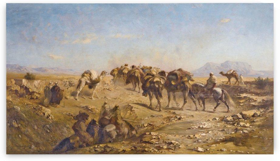 Arab caravan by Eugene Fromentin