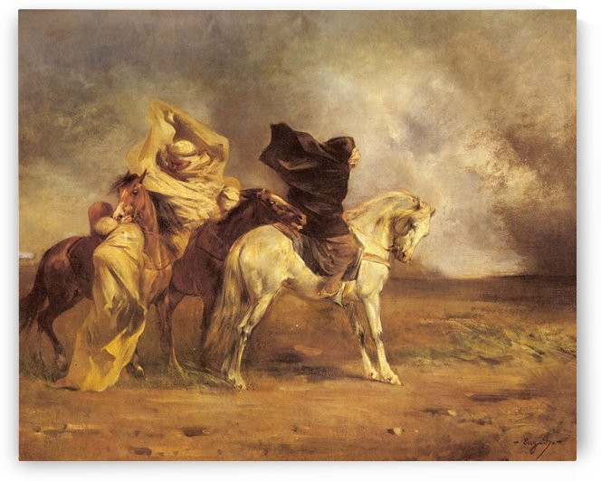 Horses and raiders by Eugene Fromentin