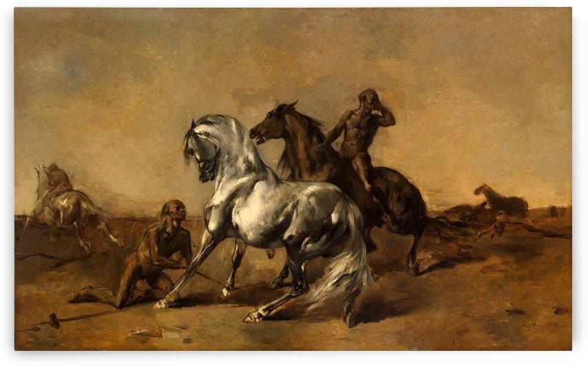 Scene in the Desert, 1868 by Eugene Fromentin