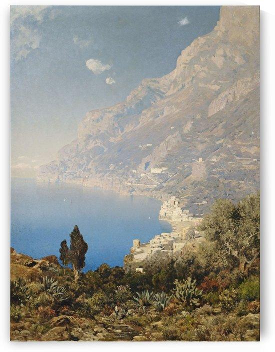 Kuste bei Amalfi by Edmund Berninger