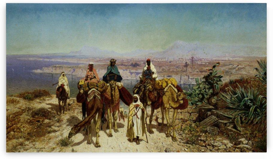 An Arab Caravan by Edmund Berninger
