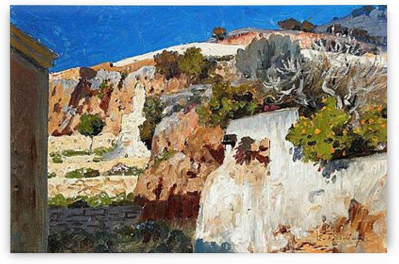 Landscape in Capri by Edmund Berninger
