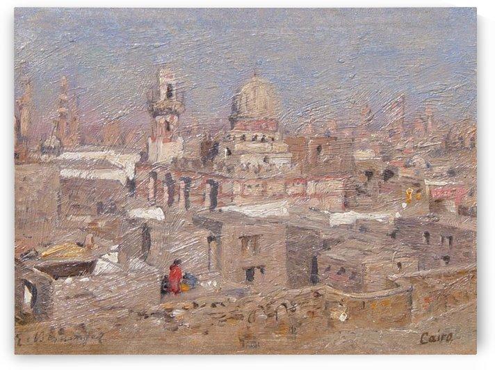 Oriental moschee in Africa by Edmund Berninger