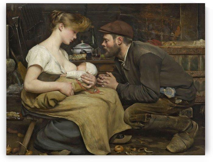 Bonheur des parents by Jean-Eugene Buland