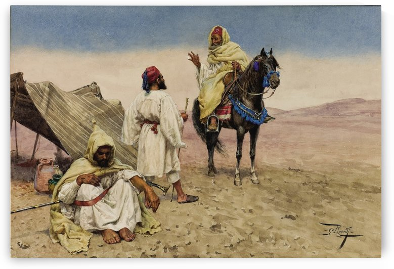 Nomades du desert by Giulio Rosati
