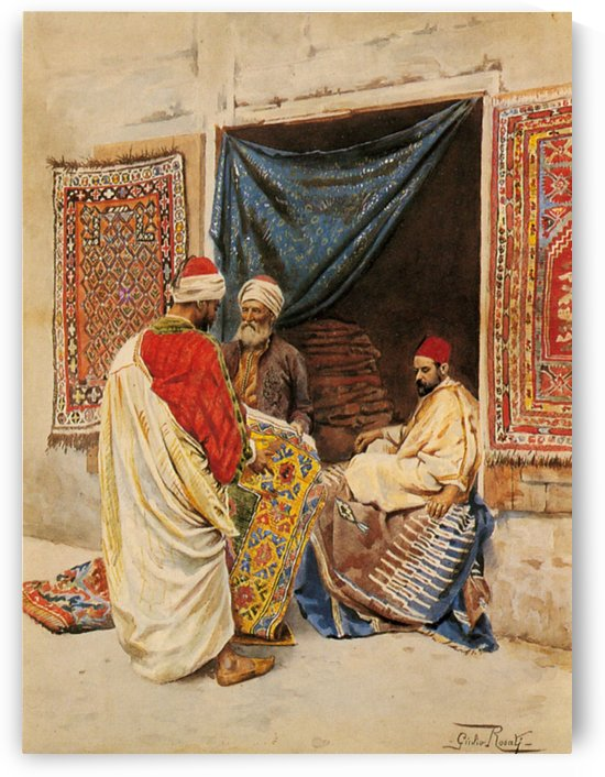 The carpet merchand by Giulio Rosati