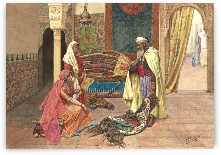 The carpet merchant by Giulio Rosati