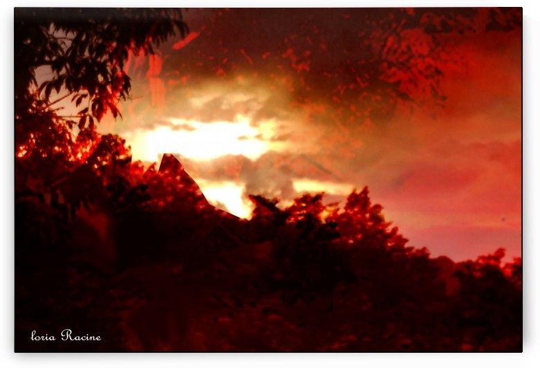 Red  Sky . by Gloria Racine