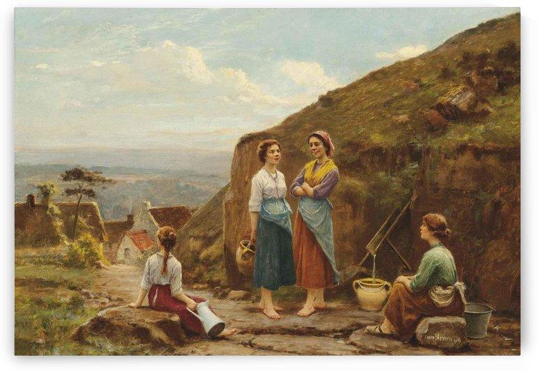 Girls having a talk outside by Cesar Pattein